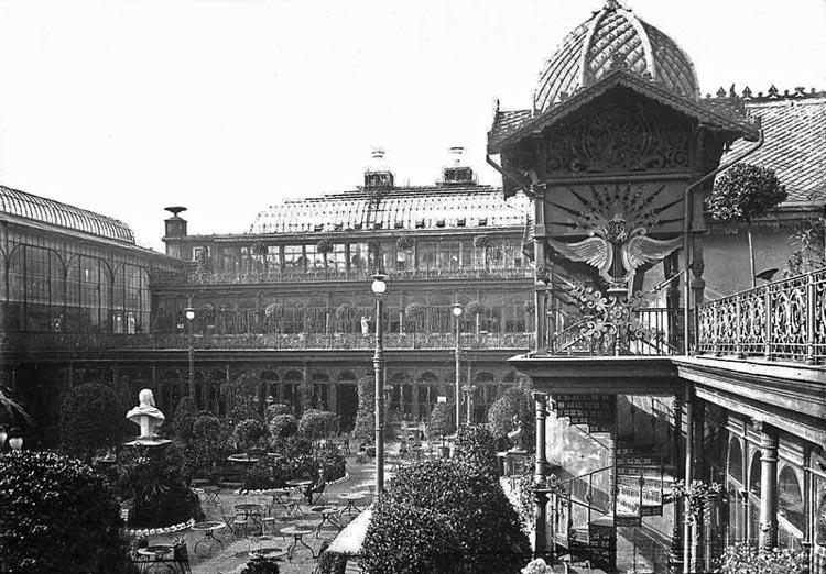 Gelände im Krystallpalast Leipzig um 1900